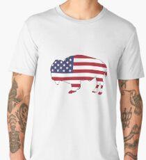 American Flag – Bison Men's Premium T-Shirt