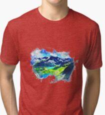 Mountain Range Painting Tri-blend T-Shirt