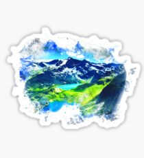 Mountain Range Painting Sticker