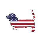 Amerikanische Flagge - Basset Hound von DelirusFurittus