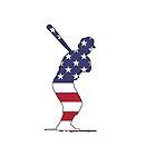 Amerikanische Flagge - Baseball-Teig von DelirusFurittus