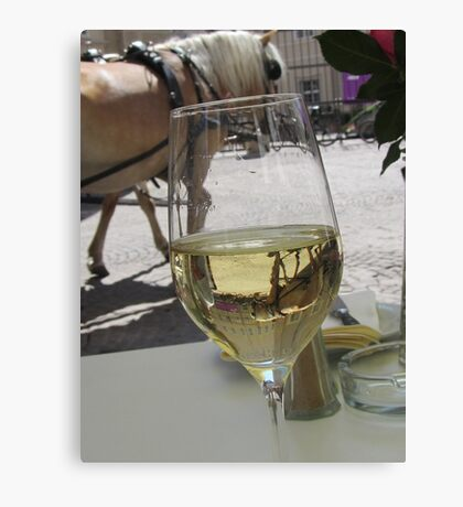 A horse in my glass Canvas Print