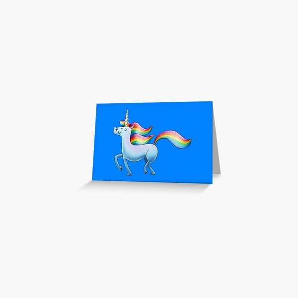 Happy Unicorn Grußkarte