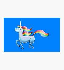 Happy Unicorn Fotodruck