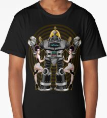 Retro 50's Robot And Fishnet Friends Long T-Shirt