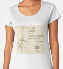 """""""First And Only"""" Mary Anning quote Women's Premium T-Shirt"""