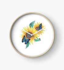 Sunflowers and Bugs Clock