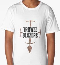 TrowelBlazers Logo WHITE Long T-Shirt