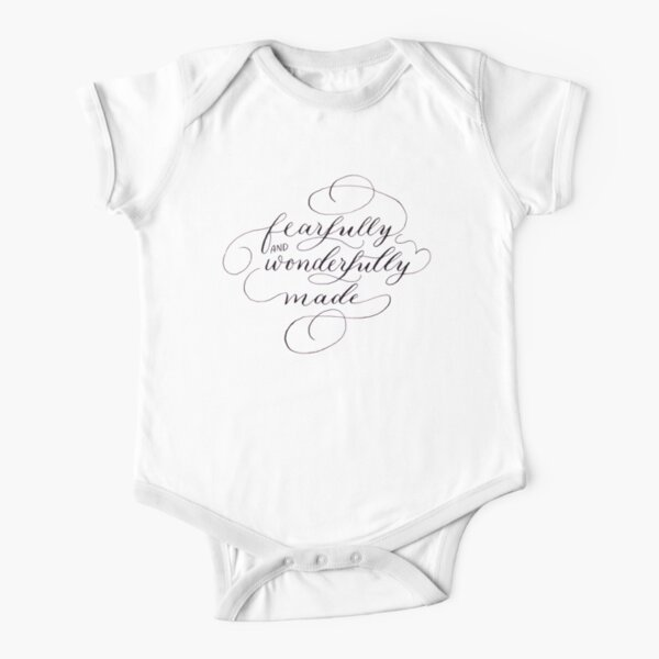 Fearfully and Wonderfully Made Short Sleeve Baby One-Piece