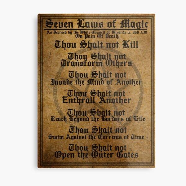 THE SEVEN LAWS OF MAGIC Metal Print