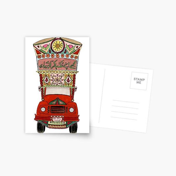 Pakistani Truck Postcard