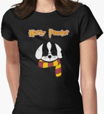 Harry Pawter Dog Wizard Womens Fitted T-Shirt