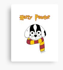 Harry Pawter Dog Wizard Canvas Print