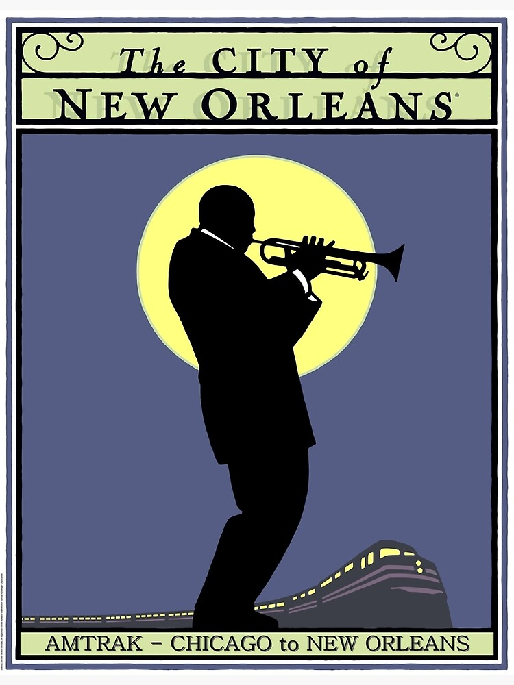 NEW ORLEANS: Vintage Amtrak Train Advertising Print by posterbobs