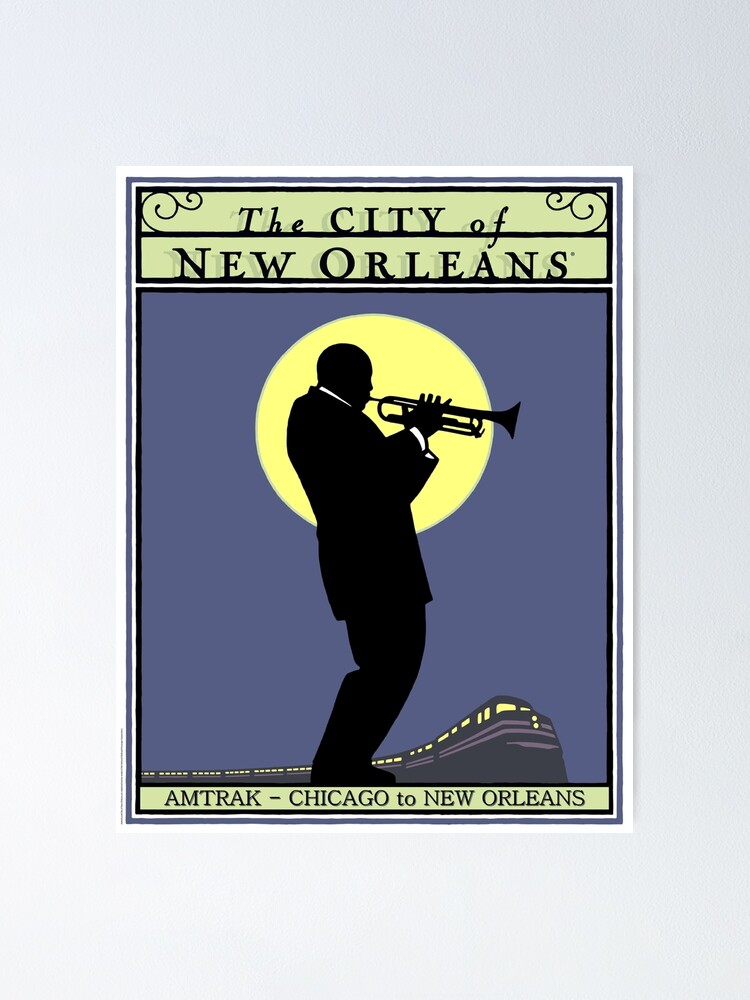 Alternate view of NEW ORLEANS: Vintage Amtrak Train Advertising Print Poster
