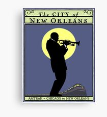 NEW ORLEANS: Vintage Amtrak Train Advertising Print Canvas Print