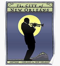 NEW ORLEANS: Vintage Amtrak Train Advertising Print Poster