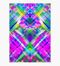Colorful digital art splashing G469 Photographic Print