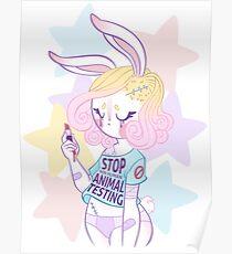 Stop animal testing! Poster
