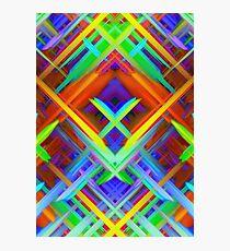Colorful digital art splashing G466 Photographic Print