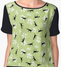Dogs on Paws  Chiffon Top