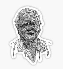 David Attenborough Drawing Sticker