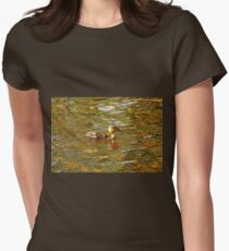 Morning Light Duckling Womens Fitted T-Shirt