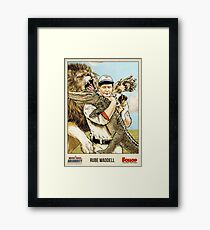 The United States of Absurdity - Rube Waddell Framed Print