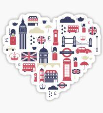 London Icons Heart Sticker