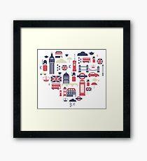 London Icons Heart Framed Print