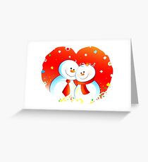 Snow Lovers Greeting Card
