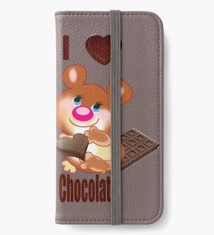 Teddy I Love chocolate  (6370  Views) iPhone Wallet