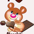Teddy I Love chocolate  (6299  Views) by aldona