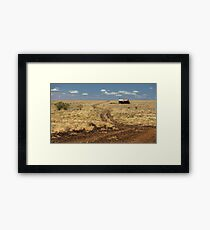 Down the Dusty Road Framed Print