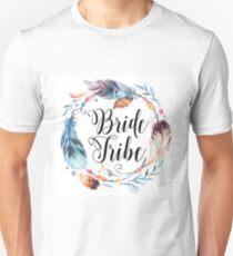 Boho Feather Bride Tribe Unisex T-Shirt