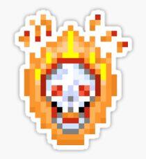 Flame On - Pixels Sticker