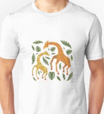 Dancing Giraffes with Patterns Unisex T-Shirt