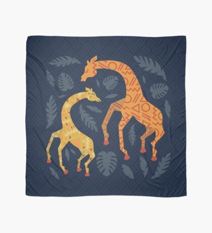 Dancing Giraffes with Patterns Scarf