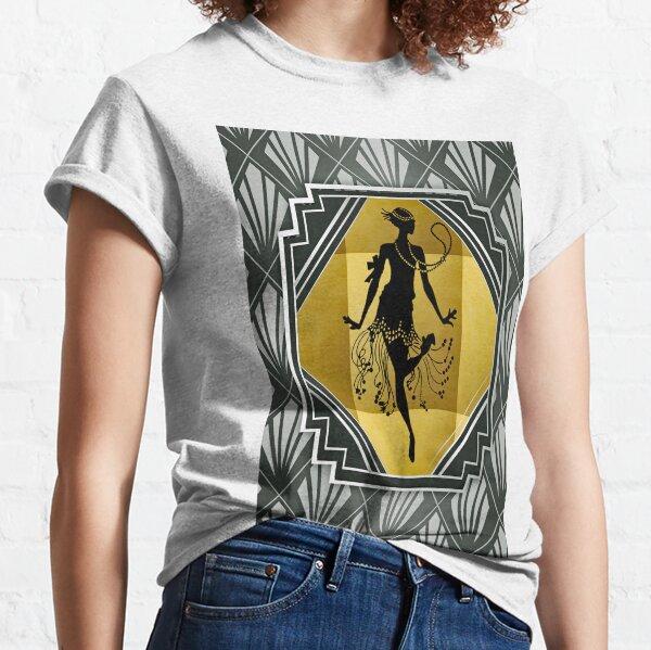 Art Deco Flapper Roaring 20er Jahre Gatsby Style Print Classic T-Shirt