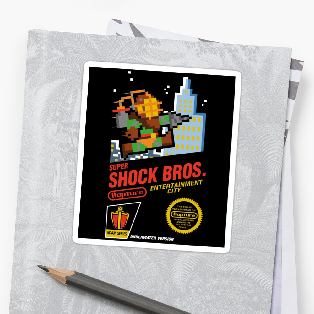 Super Shock Bros Sticker by JakGibberish