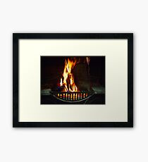 Open Fire - Wilber Farmhouse Framed Print