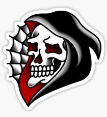 Traditional Grim Reaper Head Sticker