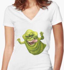 Slimer Women's Fitted V-Neck T-Shirt