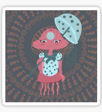 Pink Sea Jellyfish Chibi Sticker