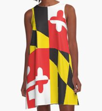 MARYLAND FLAG A-Line Dress