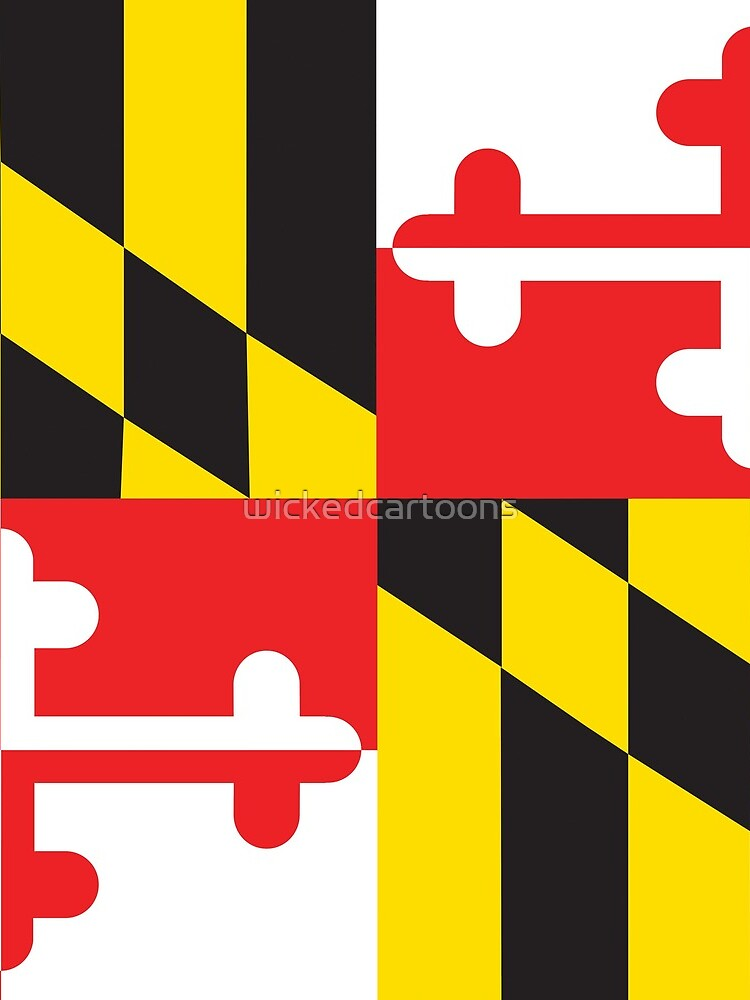 MARYLAND FLAG by wickedcartoons