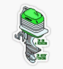 Fishing Mission - Pixels Sticker