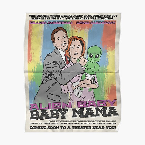 Alien Baby Baby Mama - Vintage Movie Poster Poster