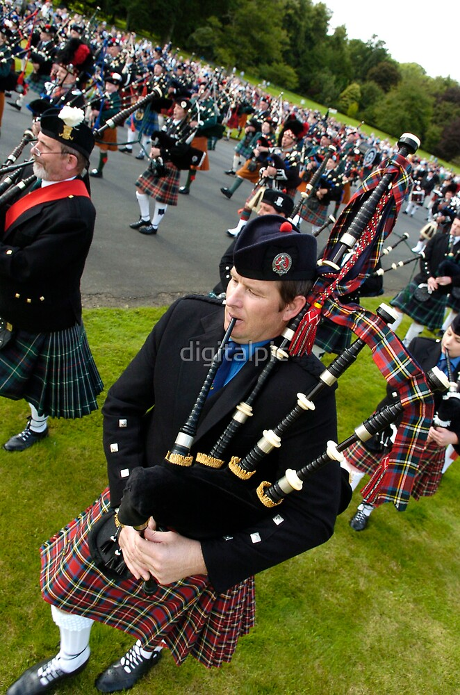 Massed Pipe Bands by digitalpic
