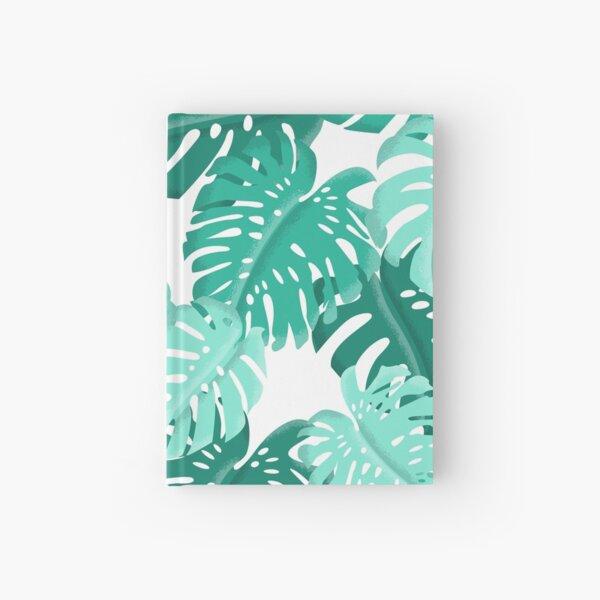 Tropical Green Monstera Print  Hardcover Journal